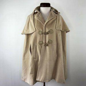 Peppe Peluso Ivory Beige Poncho Coat Jacket